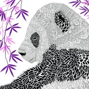 La ménagerie portrait d'animaux à colorier page 1