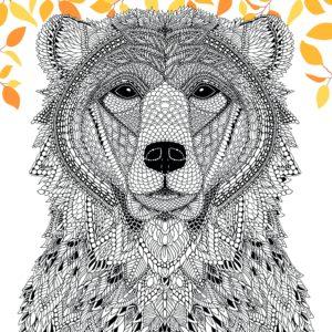 La ménagerie portrait d'animaux à colorier page 4